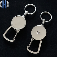 2.5cm metal chaveiro alta rebote chave anel anti-perdido edc fivela