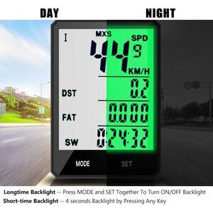 """Image 3 - 2.8 """"Ciclocomputer Senza Fili Wired Bike Computer Impermeabile Tachimetro Contachilometri Cronometro Per Accessori Per il ciclismo 2.0 opzione"""