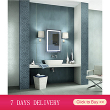 Bathroom Mirror Wall-Mounted Makeup Rectangular White 60x80 Home 50x70cm Beauty Cool