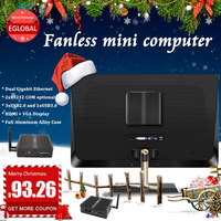 2LAN ports barebone MINI PC Intel Celeron CPU best Mini pc for video editing with alloy chassis super small desktop pc