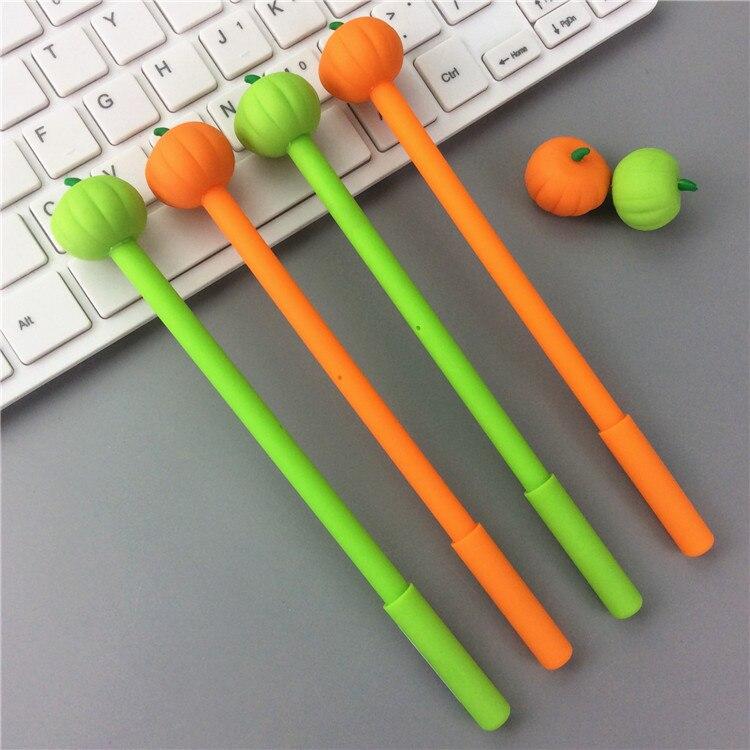 criativo verde laranja abóbora tinta preta gel