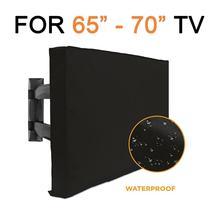 Чехол для телевизора Jombo, подходит для улицы, 65-70 дюймов, с нижней крышкой, лучшая защита от непогоды, пыли, микрофибра, защита экрана телевизо...