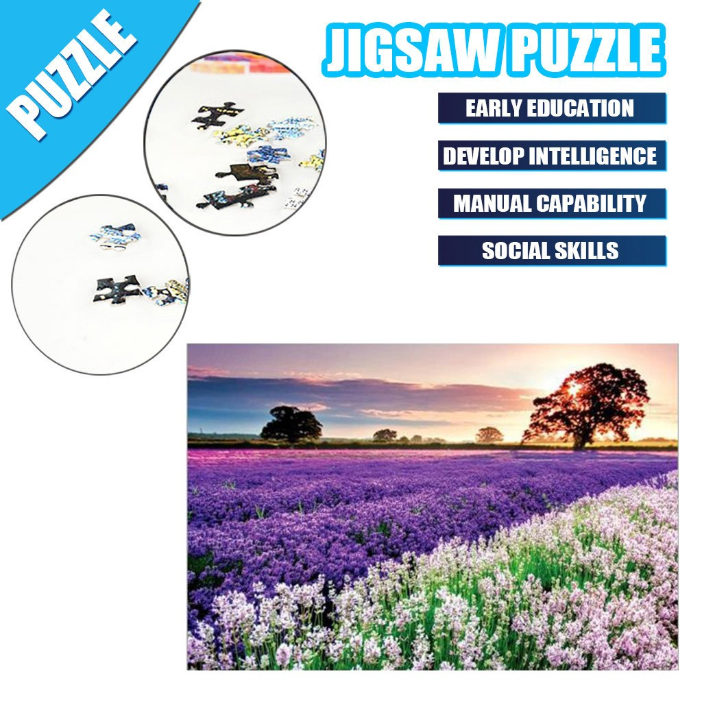 1000 Pieces Jigsaw Puzzle Children's Adult Wooden Puzzle Intelligence Educational Game Toys kids Jigsaw Puzzle toys Stickers 22