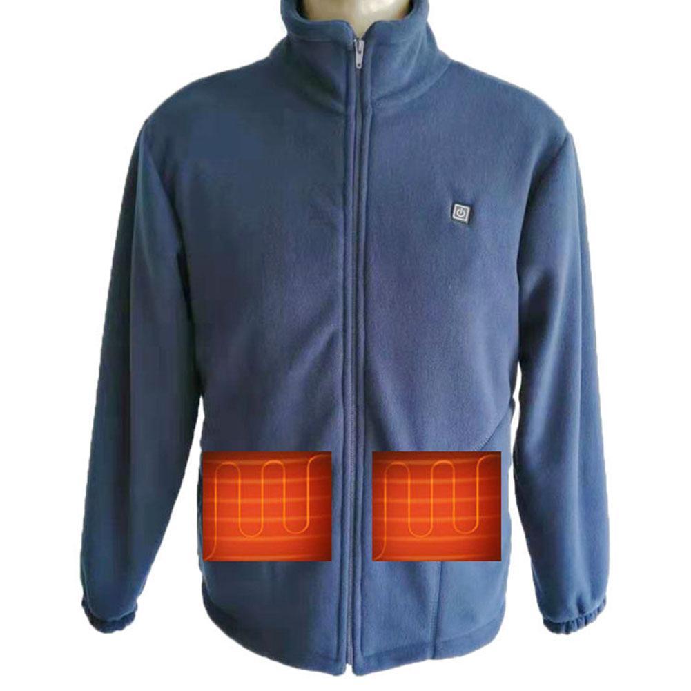 Graphene Thickened Fleece Heating Vest Smart Heating Suit USB Blanket Carbon Fiber Heating Clothing Power Bank Heating Jacket