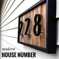 125mm duży nowoczesny dom numer hotelu numer drzwi domu odkryty tablica adresowa numer stopu cynku dla adresu domu znak #0-9