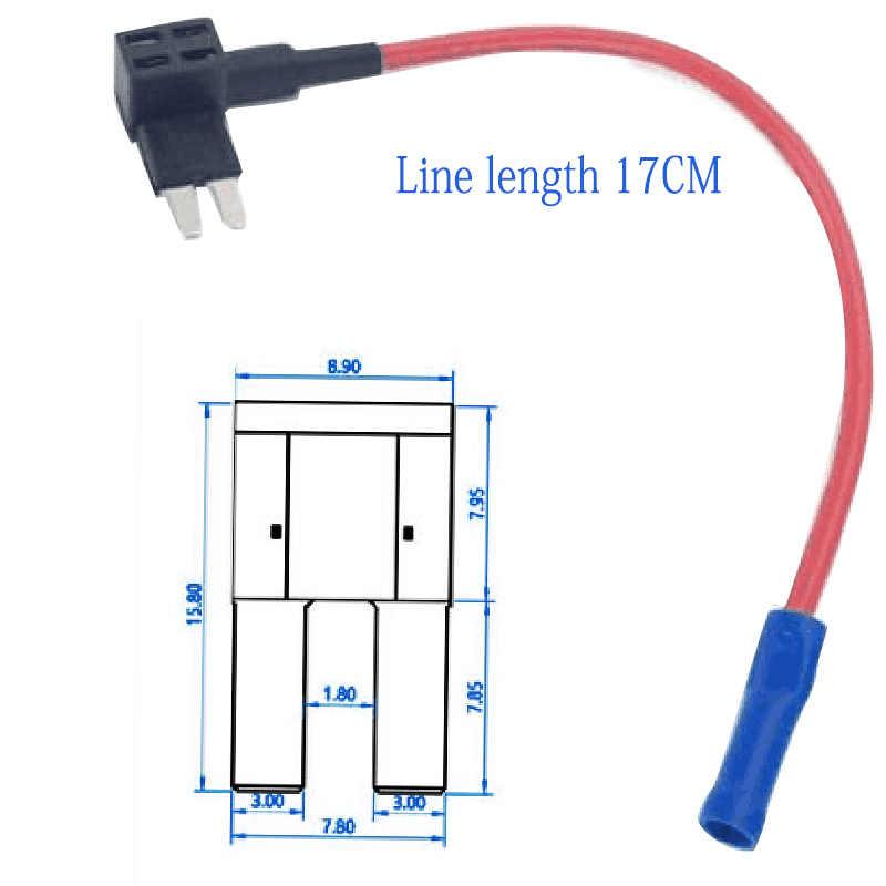 2 個耐久性のある追加回路ヒューズをタップ標準ブレードヒューズホルダー + 15A 中 ATO 、 ATC ヒューズセットを保護するための車回路ツール