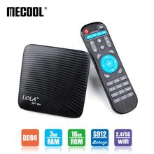 ТВ приставка DDR4 на базе Android Mecool Lola M8S Pro Amlogic S912 Восьмиядерный процессор 3 Гб 16 Гб 2,4G/5G WiFi BT 4,1 Airplay