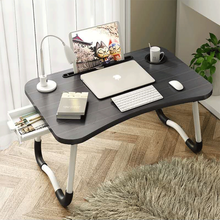 Colorful Laptop Desk With Drawer MDF Bed Table