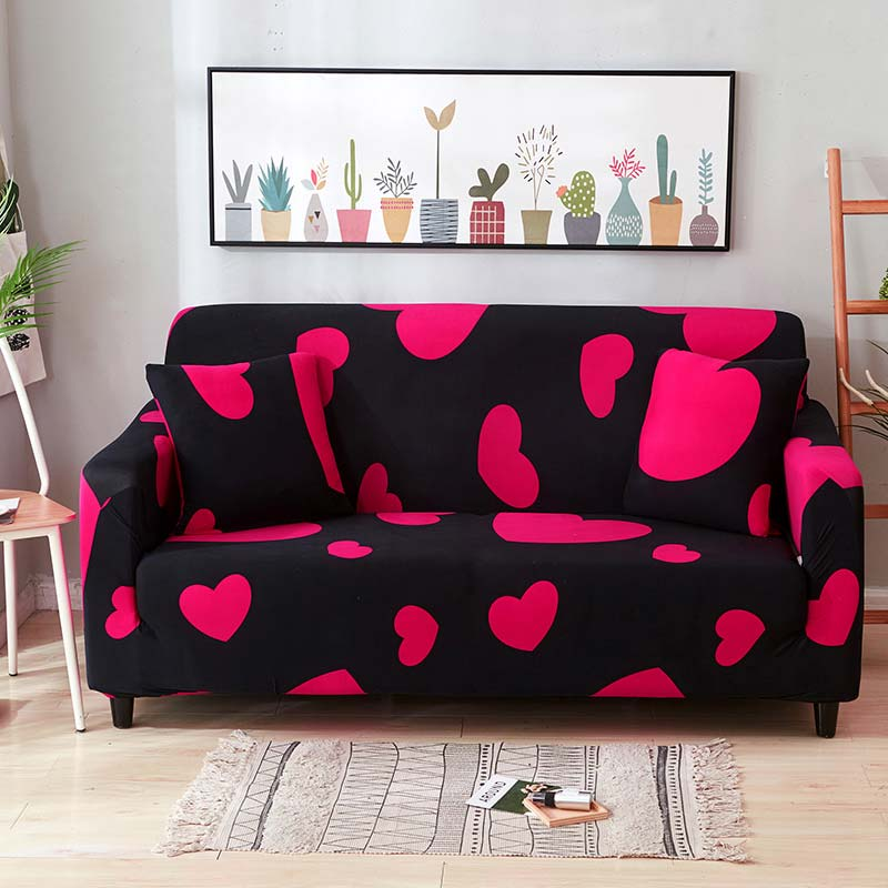 Cover For Sofa Red Two And Three Seats Sofa Covers Printing Elastic Covers For Upholstered Furniture SA47018