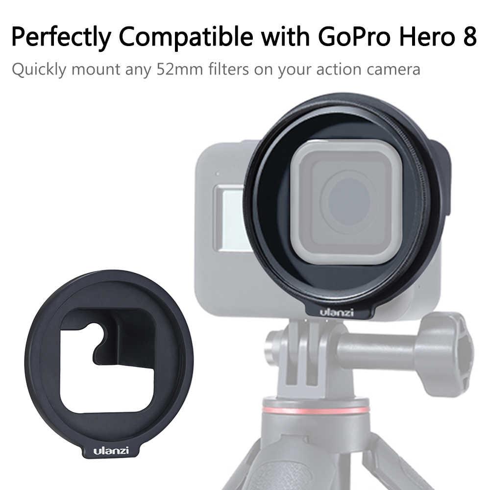 Ulanzi G8-6 52mm filtr Adapter pierścień uchwyt montażowy uchwyt filtra kompatybilny z GoPro Hero 8 Action Camera photography