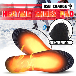 USB Electric Heated Insoles Women Men Powered Feet Warmer Sock Pad Mat Electric Heating Winter Warm Shoe Insoles For Shoes Boots