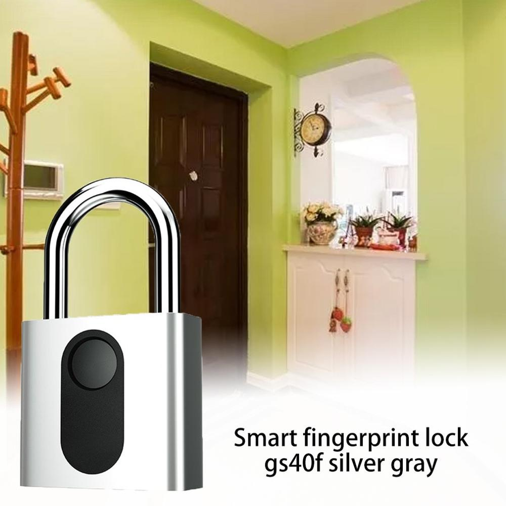 Smart Fingerprint Padlock Gym Lock Student Dormitory Anti-theft Lock Gym Warehouse Fingerprint Padlock