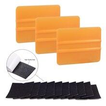 EHDIS 10 stücke Carbon Faser Verpackung Schaber Rand Stoff Fühlte Auto Vinyl Wrap Film Remover Tool Fenster Tönung Reinigung Wasser rakel