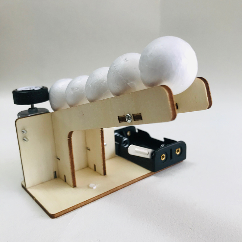 DIY Fun Auto Ball Shooting Toy For Child Invention STEM Circuit Craft Materials Kit Physics Science Technology School Project