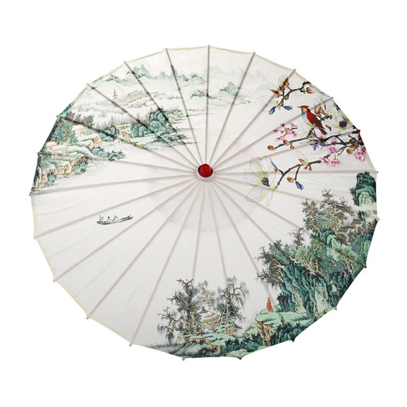 Chinese Style Oil Paper Umbrella Parasol Wedding Dance Ceiling Decor Photo Prop