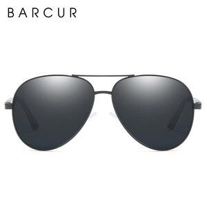 Image 4 - BARCUR Aluminium Magnesium Polarisierte Sonnenbrille Männer Fahren Spiegel Sonnenbrille Männlichen Oculos