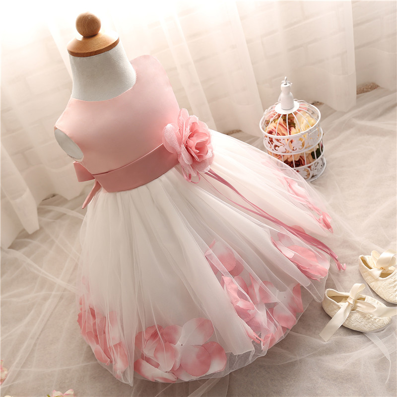Bonito da menina infantil vestido de festa para 1 ano bebê menina aniversário vestido de criança menina batismo vestido de bebê roxo vestidos para o batismo