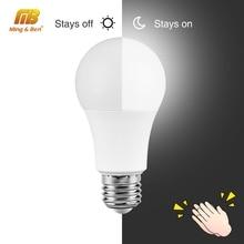 Звуковой датчик движения светодиодный светильник 7 Вт 9 Вт 12 Вт светильник s светодиодный лампочка 110 В 220 в E27 белый лампада для Лестницы прихожей ночной Светильник