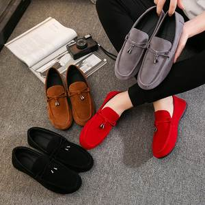 Shoes Men Loafers Summer-Style Genuine-Leather High-Quality Fashion Brand Gommino Flats