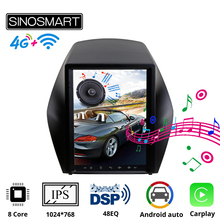 Car Gps Multimedia Sinosmart Tesla-Style Vertical Ips-Screen Hyundai Ix35 Tucson Navigation-Player