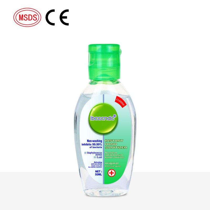 HOT 50ml Gel Hand Sanitizer 75% Ethanol Bacteriostasis Gel Disposable Hand Cleaning Liquid Soap Disinfection Sterilization Gel