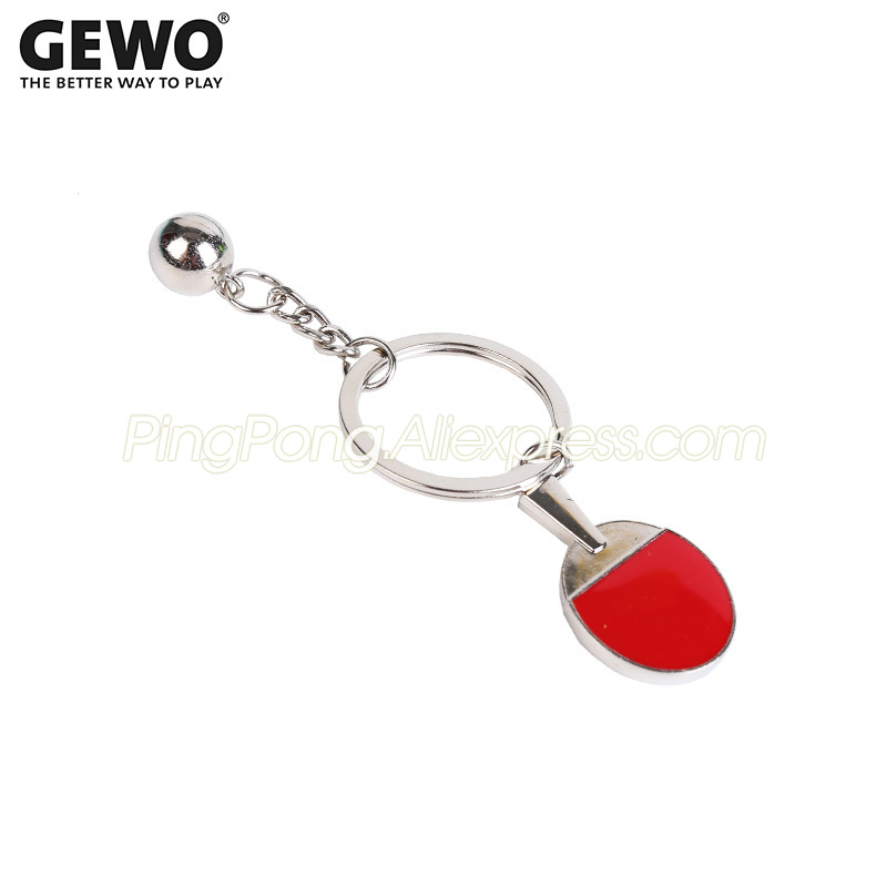 Original GEWO Mini Table Tennis Racket Keychain / Key Chain Pendant Ping Pong Bat Small Gift / Souvenir / Collection