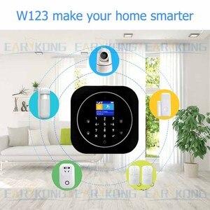 Image 2 - Tuya sistema de alarma de seguridad GSM para el hogar, sistema de alarma inteligente GSM de 433MHz, detectores de alarma compatibles con Alexa, Google Home, IFTTT, Tuya APP