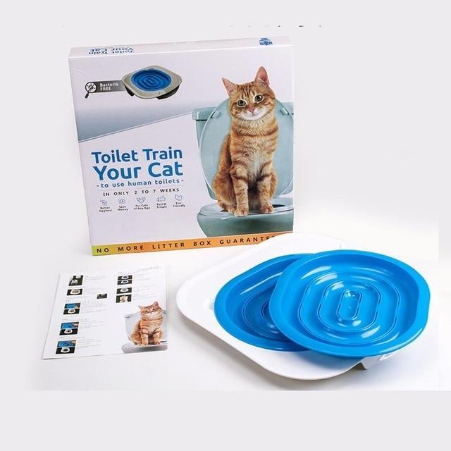 40*40*3.5cm Plastic Cat Toilet Training Kit Litter Box Puppy Cat Litter Mat Cat Toilet Trainer Toilet Pet Cleaning Cat Training
