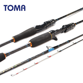 цена на TOMA 1.8m 1.98m 2.1m Surf Japan Sea Jigging Spinning Fishing Rod Casting Lure 50-180g Ultralight Rod Fishing Jigging Saltwater