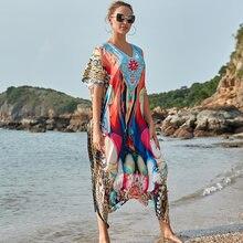 Быстросохнущая накидки 2021 халат пляж бикини платье пляжное