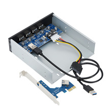5.25in USB 3.0 Front Panel Expansion Bay Card 1X Interface PCI Express PCI-E Ports Adapter