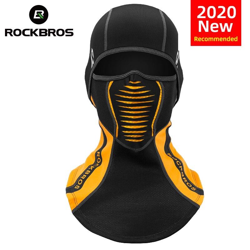 ROCKBROS hiver thermique polaire masque de Ski couverture complète Snowboard capuche écharpes Sport de plein air coupe-vent cyclisme casque cagoule