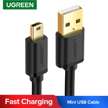 Ugreen Mini USB to USB Cable Mini USB Fast Data Charger Cable for MP3 MP4 Player Car DVR GPS Digital Camera HDD Mini USB Cable image