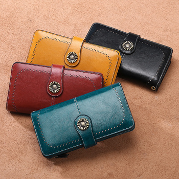 aliwood New Vintage Hollow Brand Women Wallet Money Clip Leather Clutch Designer Retro Female Long Purse Phone bag Cartera Mujer free shipping new fashion brand women s long wallet purse clutches lady money clip coin phone bag 100