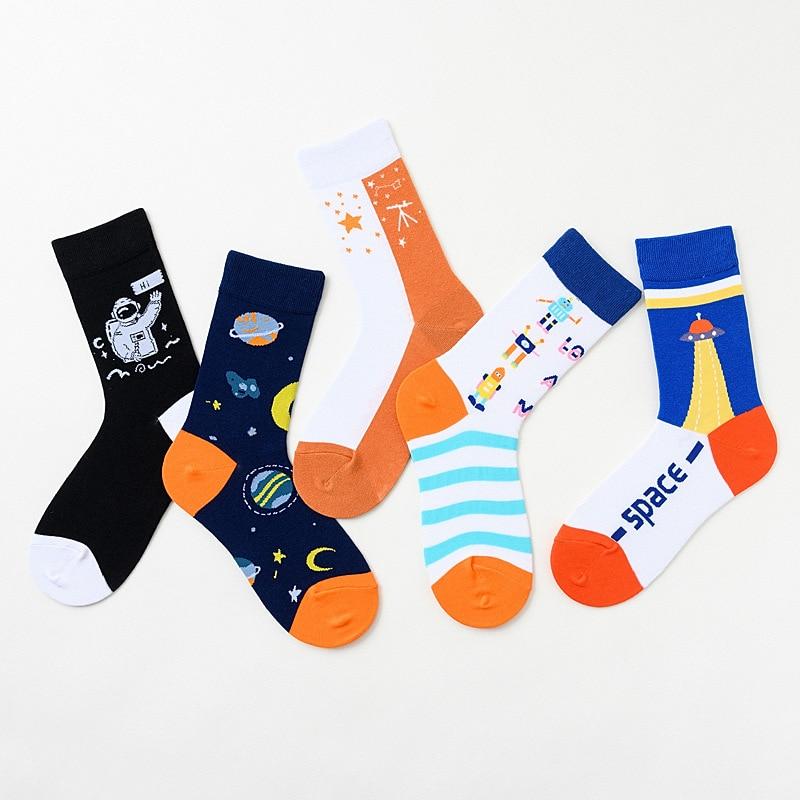 Unisex Socks New Trend Socks Cotton Comfortable Cartoon Unisex Socks Printing Creative Unisex Casual Breathable Motion Man Socks