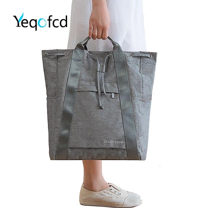 Beach Bag Splash Water Proof Nylon PU Stitching Handbag Large... Tote Bag