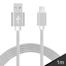 USB Cables Metal Braided  Data Sync Wire Charger For Android