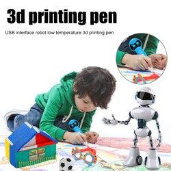 3D długopis wyświetlacz LED kształt robota głosy podpowiedź USB 3D pióro do dekorowania DJA99