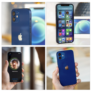 Original Apple iPhone 12 Used 99% New 5G LTE phone 6.1'' 4GB 64/128/256GB IOS A14  Face ID Battery Health 100 2