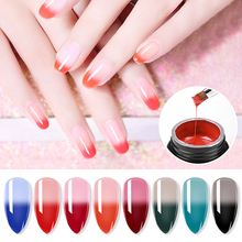 8ml Nail Poly Gel Color Temperature Changing Builder Gel Acrylic Nail Tips Extension Polygel Manicure Extend Building Gel G363 soak off poly gel uv acryl gel quick building 15ml finger extension polygel builder gel camouflage uv led hard builder nail gel