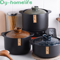 3/4.2/5.5L Clay Pot King burning Pot Japanese Style Ceramic Casserole Gas Stove Suitable for Soup Stew