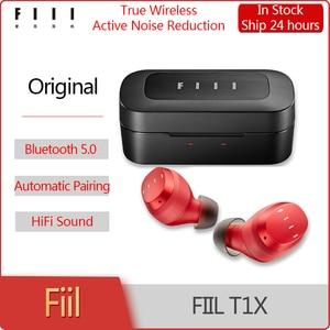 Original FIIL T1X True Wireless Headset Bluetooth 5.0 Sports Earphones DSP Noice Cancelling Waterproof TouchcControl Earbuds