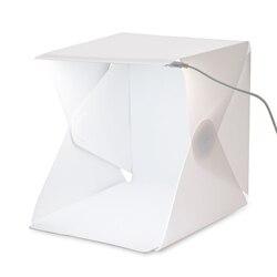 Gosear Fotografia Dobrável Mini LED Caixa Macia Tenda de Iluminação De Estúdio de Fotografia Adereços Fotografia Cenário Acessórios do Kit de Luz Softbox