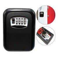 Caja de seguridad montada en la pared caja de seguridad de almacenamiento de llaves caja de seguridad de 4-combinación Digital caja de seguridad Cofre caja fuerte