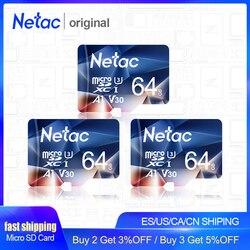 Netac P500 Thẻ Nhớ Micro SD 32GB 64GB SD/TF Thẻ Flash Card Thẻ Nhớ U3 V30 Class 10 thẻ TF MicroSD Cho Máy Ảnh Của Điện Thoại Miễn Phí Vận Chuyển
