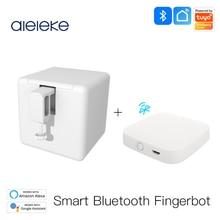 Aleleke Tuya Smart Bluetooth Fingerbot Switch Bot Button Pusher Smart Life App Voice Control via Alexa, Google Assistant