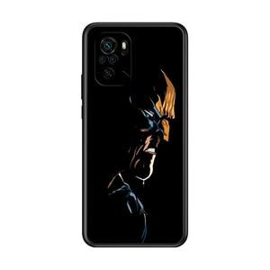 Image 5 - Marvel Avengers Wolverine Super bohater dla Xiaomi Redmi uwaga 10S 10 9T 9S 9 8T 8 7S 7 6 5A 5 Pro Max TPU silikonowy czarny futerał na telefon