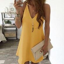 Платье женское шифоновое с v образным вырезом пикантное элегантное
