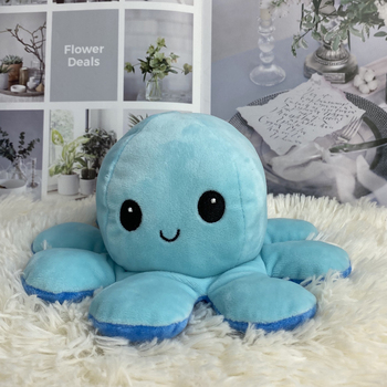 Chapter Plush Toy Colorful Octopus Plush Doll Flip Toy Double-sided Flip Octopus Plush Toy Marine Life Doll Child Toy Baby Gifts premium new 1pc cute marine life octopus baby plush toy doll octopus multicolor optional dolls