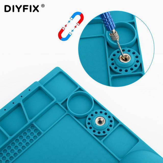 3D nadgarstek silikonowe pracy Pad ciepła izolacji odpornej na działanie biurko Hot wiatrówka stacji mata telefon komórkowy BGA PCB narzędzie lutujące do naprawy